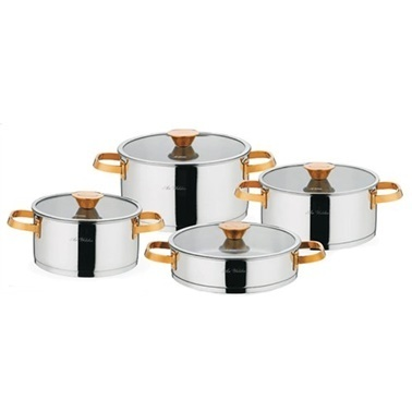 Aryıldız Lilyum Prestige S Bronz 8 Parça Tencere Seti Bronz